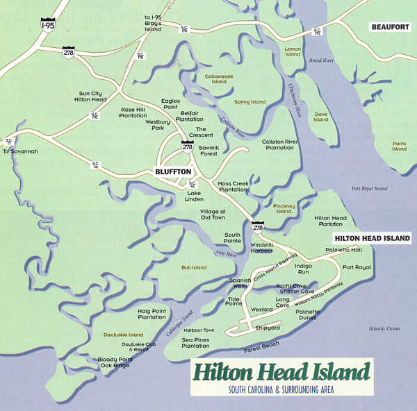 Savannah South Carolina Map.Hilton Head Island How To Get To Hilton Head Island