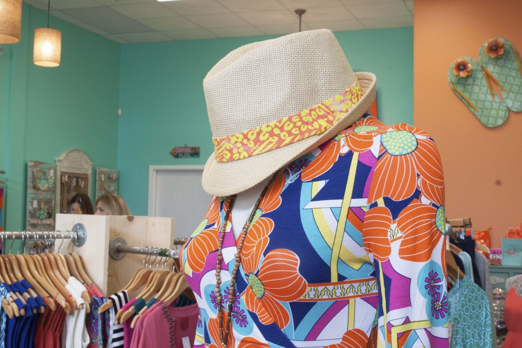 Coastal Bliss has a variety of hats and accessories perfect for Hilton Head Island's beaches. Photo by Andrea Six.