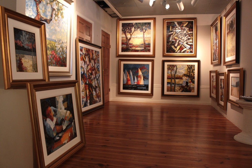La Belle Image has a variety of works by Richard Riverin, an Impressionist from Quebec City. Photo by Andrea Six.