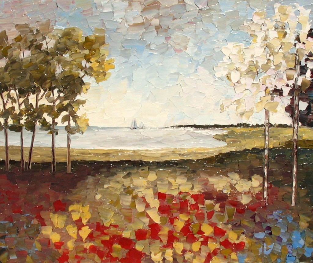 "The Impressionist work ""Sea Coast Hilton Head"" by Richard Riverin."