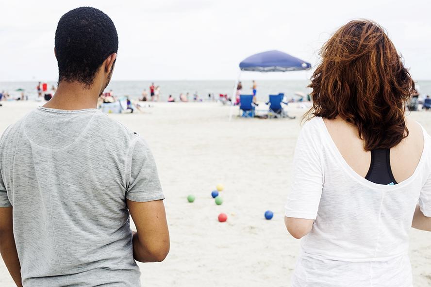 Bocce Ball on the Beach