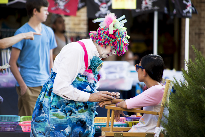 Every evening during HarbourFest, kids can go see Cappy the Clown. Photo by Nicolette Kay.