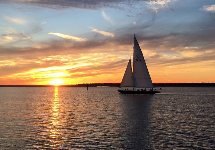 Vagabond Cruises Stars and Stripes Sailing on Hilton Head Island