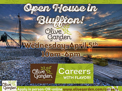 dont miss the tanger olive garden open house located at 1266 fording island road on april 5 2017 this open house hiring event will last from from 10 - Olive Garden Hiring